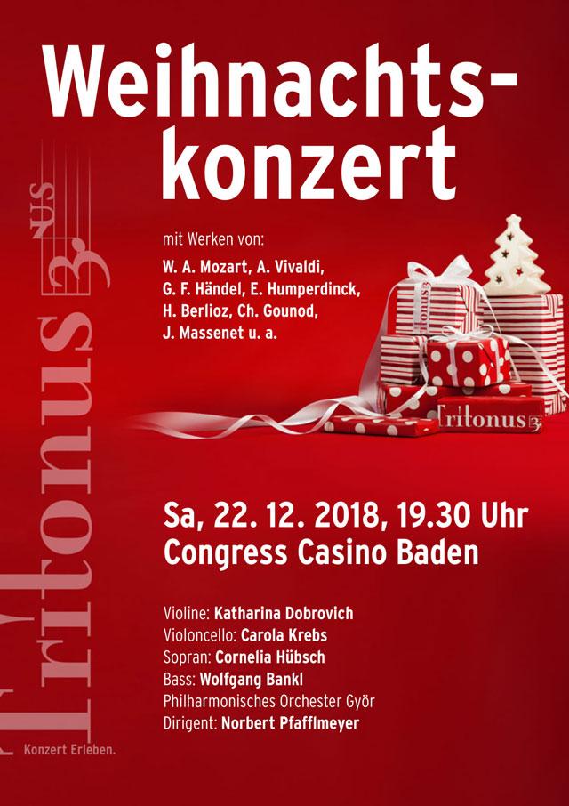 Weihnachtskonzert 2018, Tritonus Baden